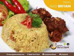Paket Aqiqah Jakarta Pusat Nurul Hayat Menu Nasi Briyani